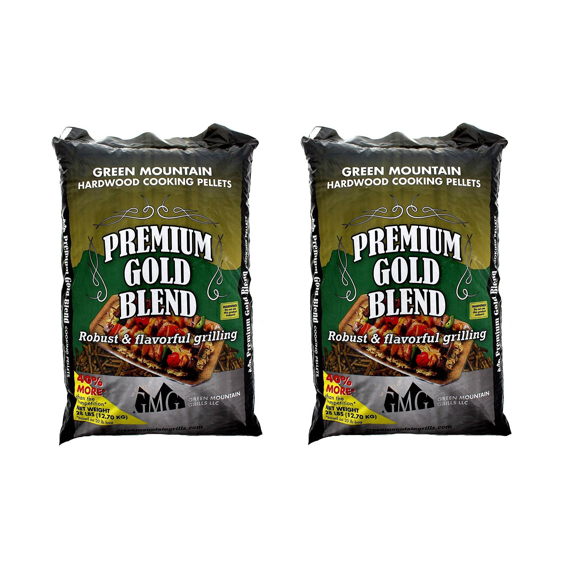 Green Mountain Grills Premium Gold Blend Grilling Pellets (2 Pack) by Green Mountain Grills