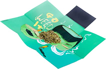 Small CASE ON IT Folding Rolling Tray Easy to Carry Unique Design Smell Proof