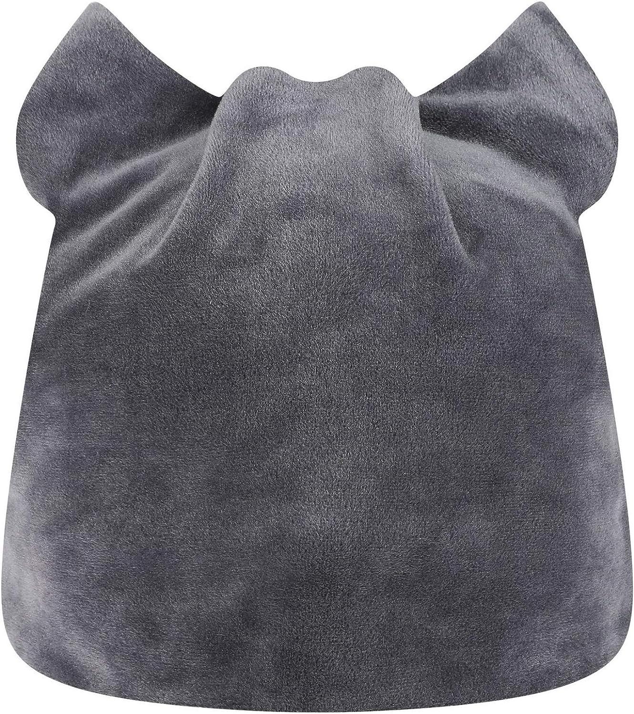 Women Girls Cute Cat-Ear Beanie-Hat Cap