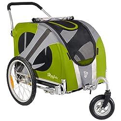 DoggyRide Novel Dog Stroller Outdoors Green