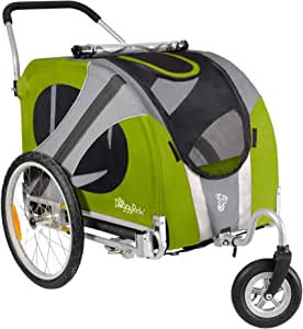 DoggyRide Novel Dog Stroller, Outdoors Green