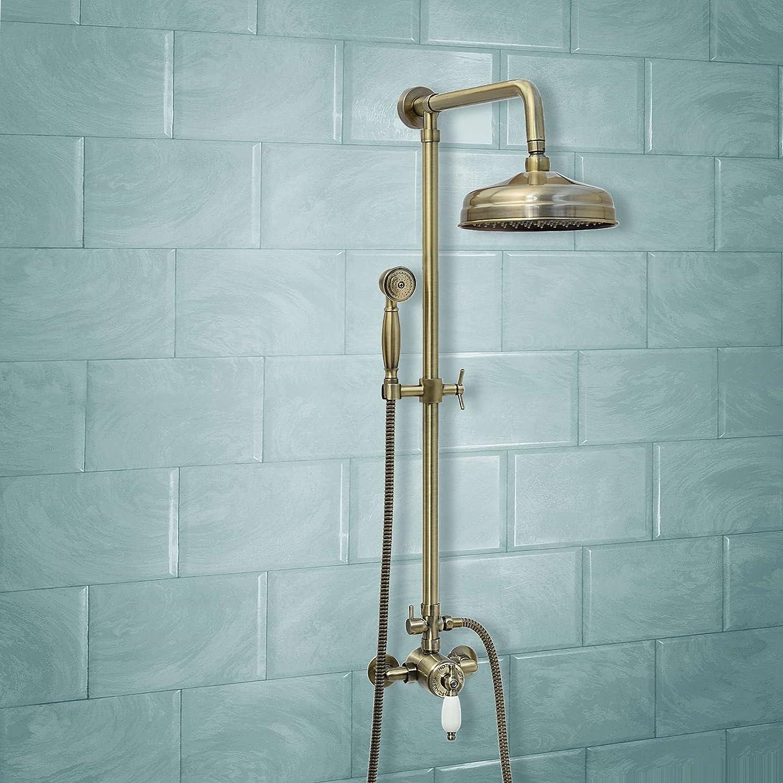 ENKI Bath Filler Mixer Tap Shower Antique Bronze Traditional ...