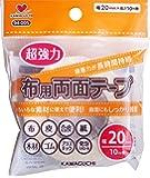 KAWAGUCHI 超強力 布用 両面テープ 透明 10m 幅20mm 94-005