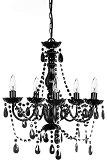 New jet black gothic crystal chandelier lighting h37 x w26 free the original gypsy color 5 light medium black chandelier h21 w19 black metal mozeypictures Image collections