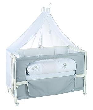 Roba Beistellbett Roombed Babybett 60x120 Cm Fox Bunny Grau Anstellbett Zum Elternbett Mit Kompletter Ausstattung Amazon De Baby
