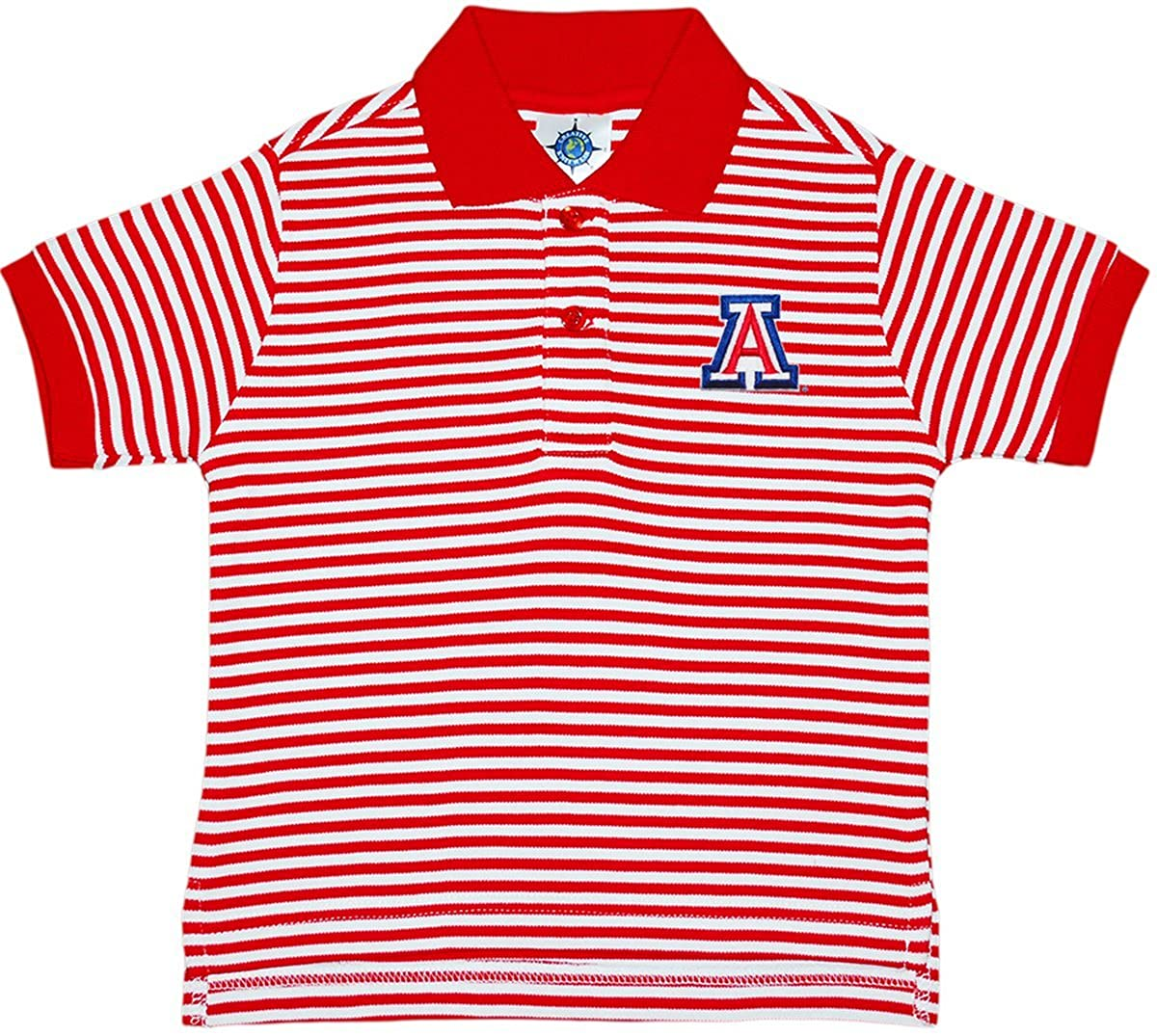 Creative Knitwear University of Arizona Wildcats Striped Polo Shirt