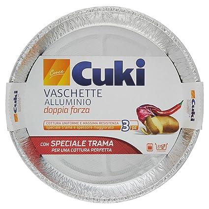 Cuki - Bandeja de aluminio de doble fuerza para horno y microondas, 8 paquetes de