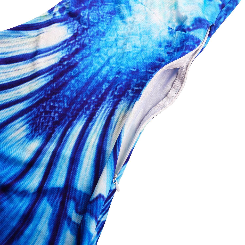 onlight M/ädchen Meerjungfrauen Bikini Kost/üm mit Meerjungfrau Flosse Prinzessin Badebekleidung Cosplay Kost/üm Meerjungfrauenschwanz f/ür Schwimmen
