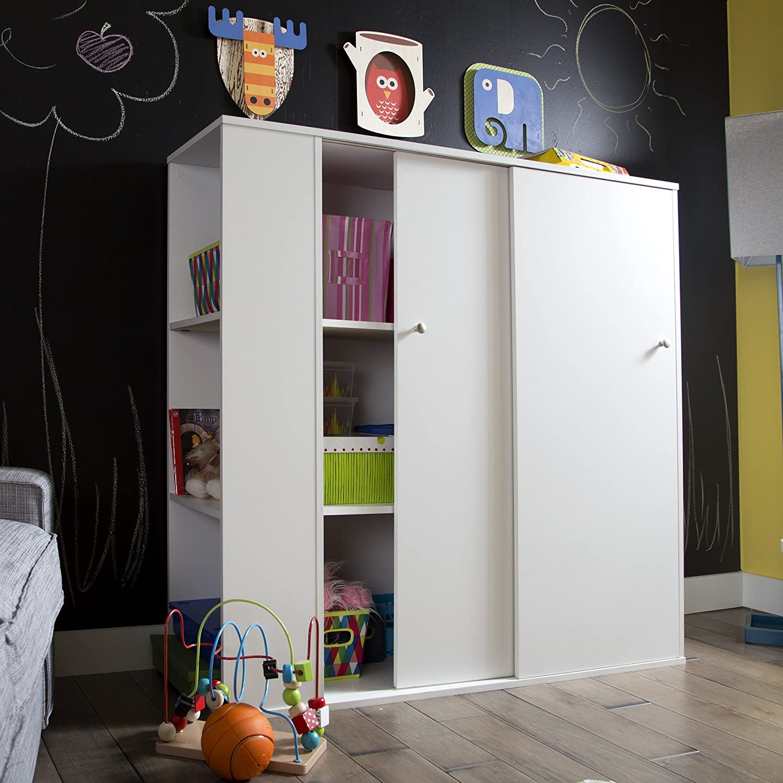 Amazon South Shore Kids Storage Cabinet With Sliding Doors