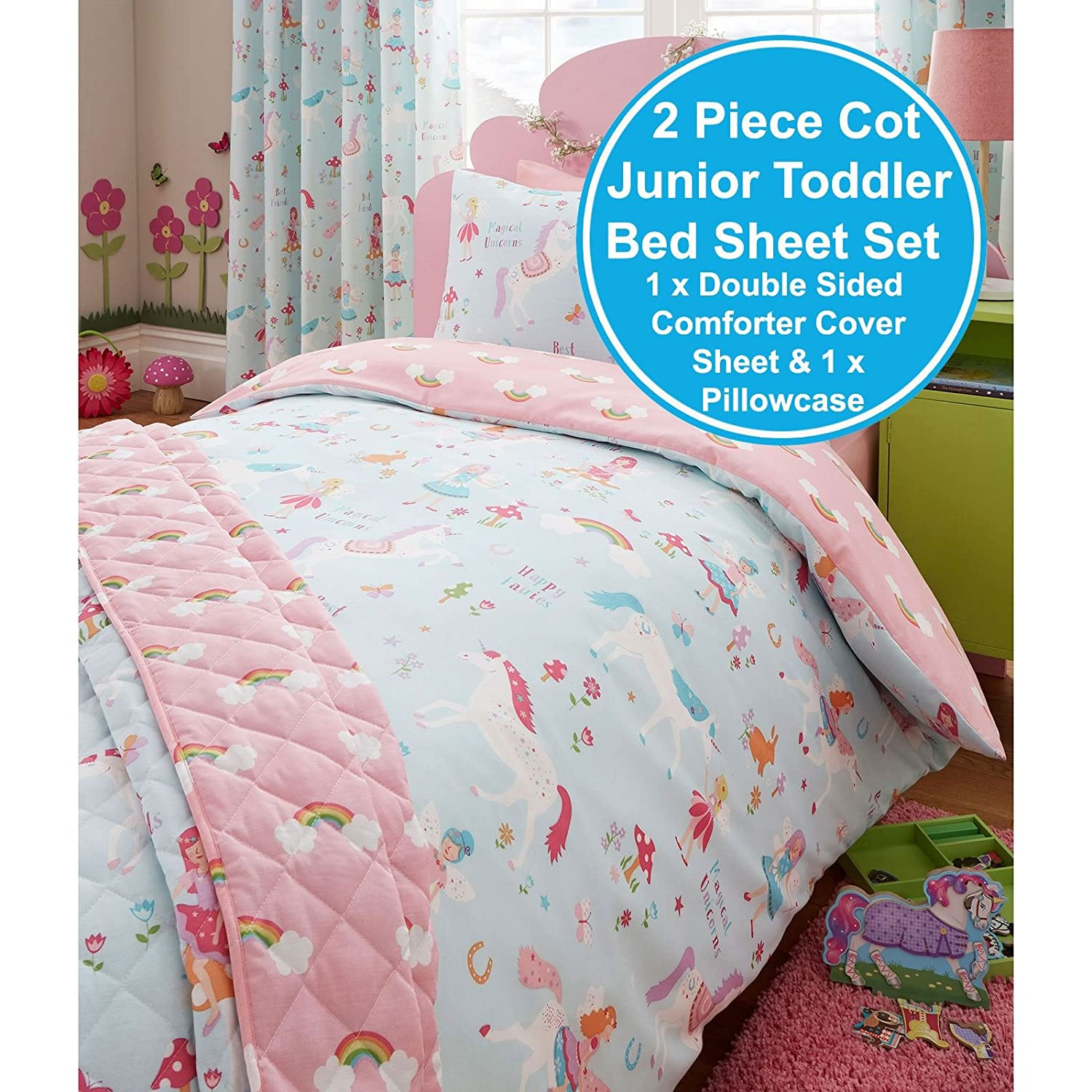 Attrayant Amazon.com: Magical Unicorn Junior/Toddler Duvet Cover And Pillowcase Set:  Home U0026 Kitchen