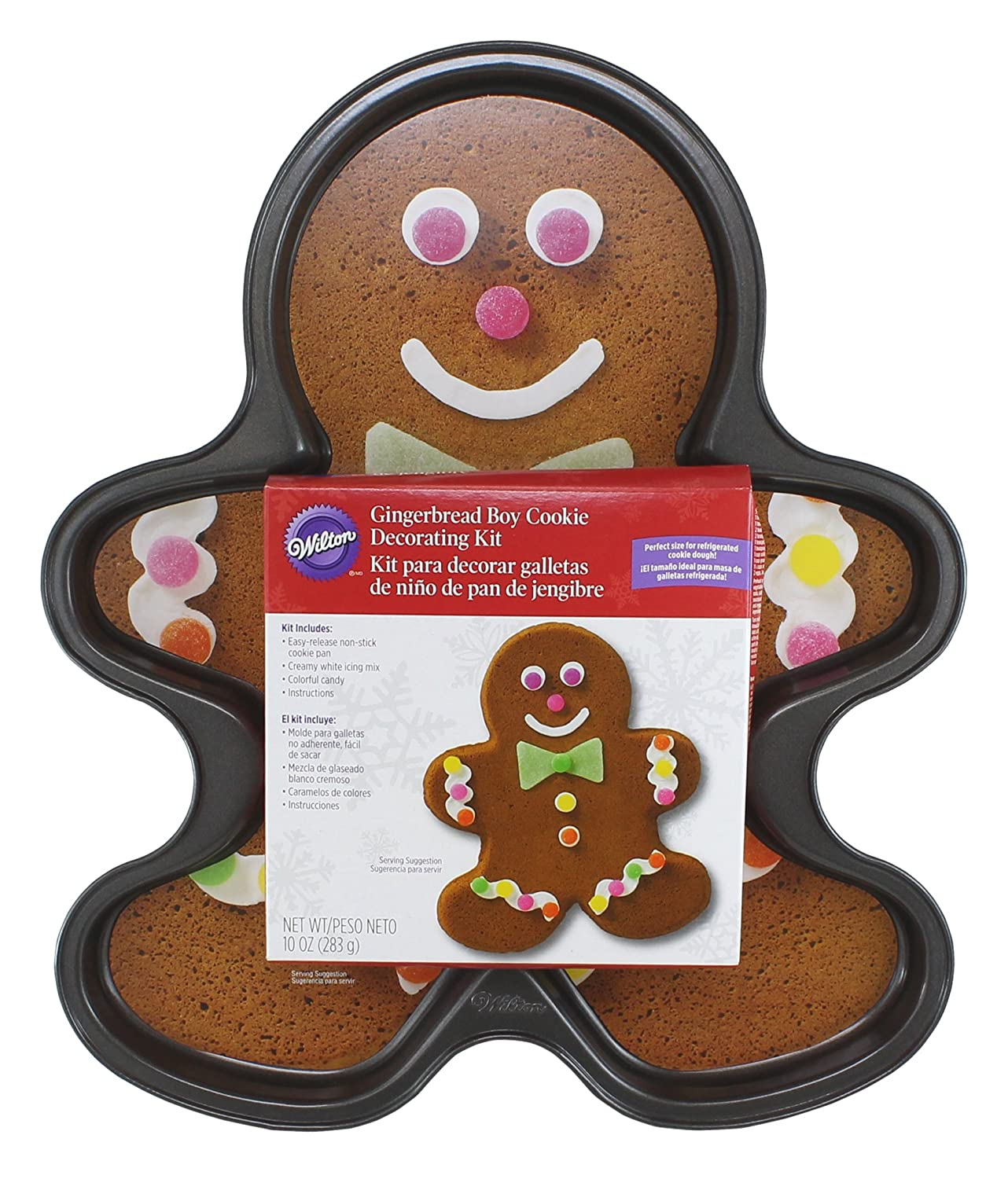 Amazon.com: WILTON Giant Non-Stick Gingerbread Boy Pan With Decorating Kit: Baking Sheets: Kitchen & Dining