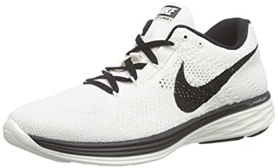 nike womens flyknit lunar3 trainers 698182 sneakers shoes (US 7.5, sail  black 101)