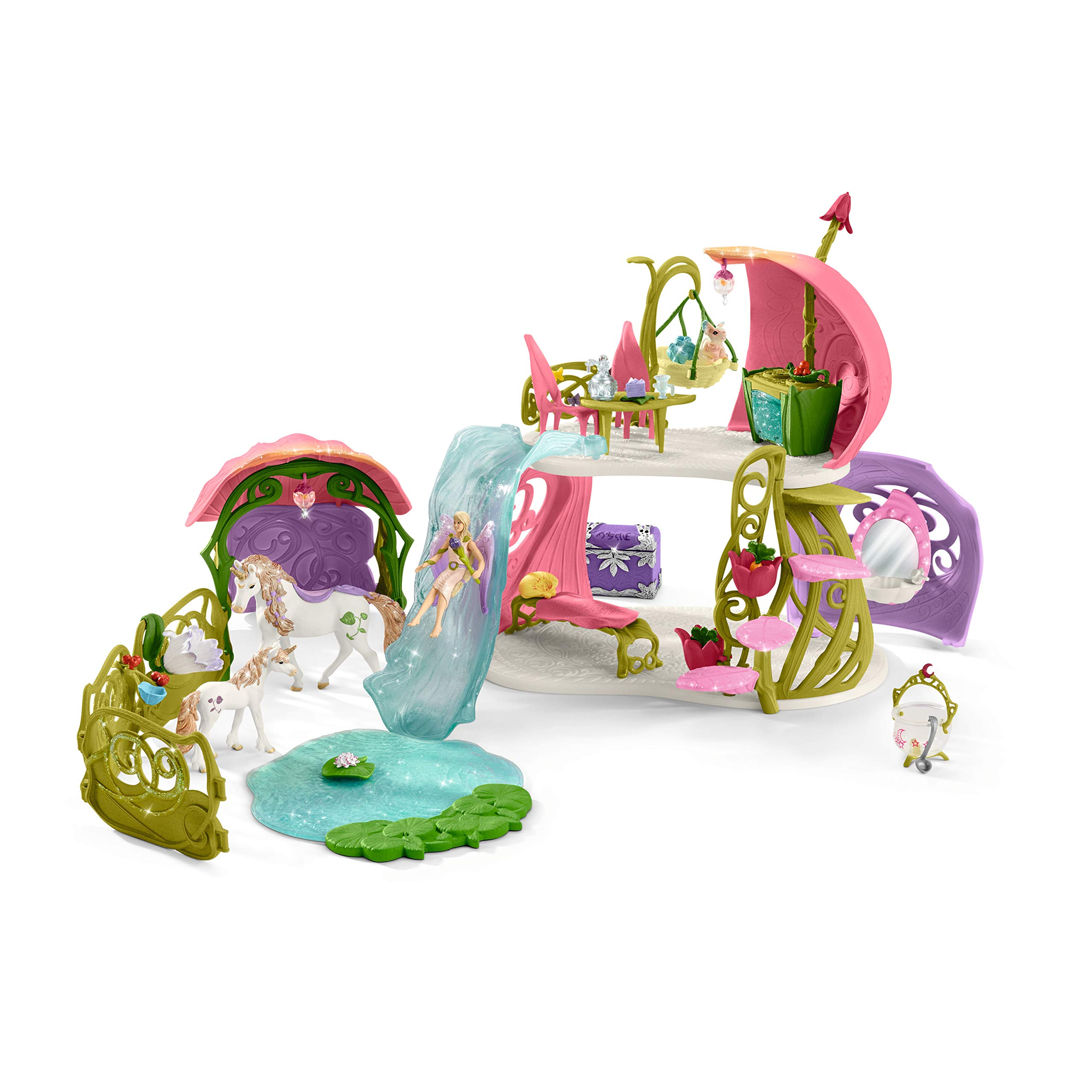 Schleich Glittering Flower House with Unicorns, Lake and Stable, Multicolor by Schleich (Image #4)