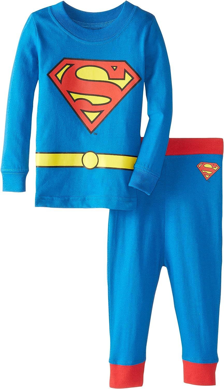 Dc Comics Little Boys Superman 2 Piece Poly Pajamas Set