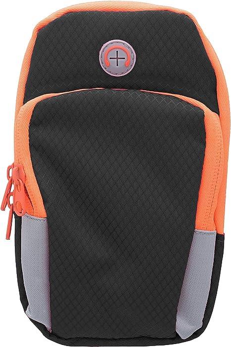 S7 Dos Piezas de Color Naranja y Negro 11010406 Brazalete para Correr Compatible con iPhone 6 6S 7 8 X XS XR Galaxy S6 ECENCE Brazalete Deportivo Universal para m/óvil