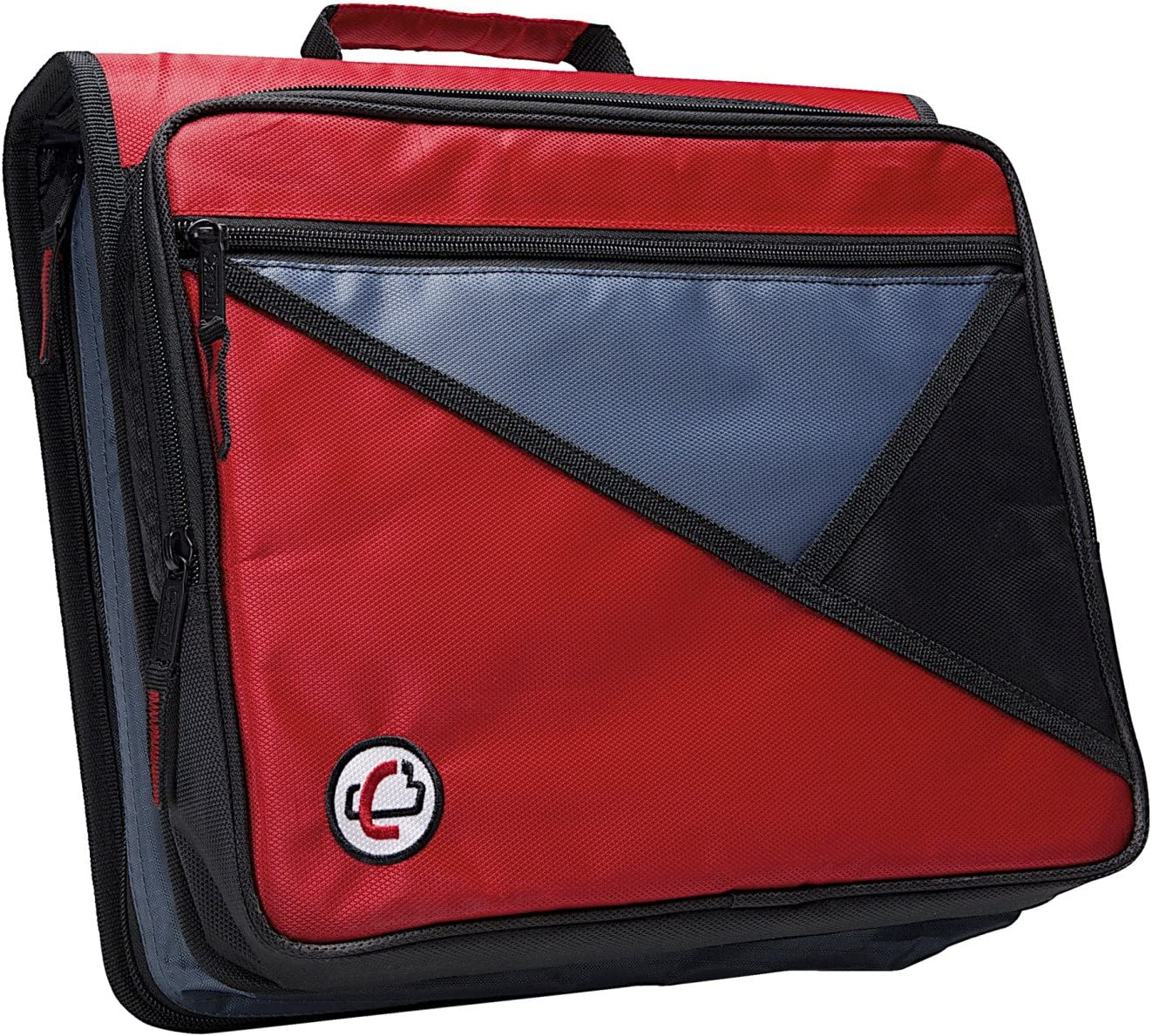 Case-it Universal 2-Inch 3-Ring Zipper Binder, Holds 13 Inch Laptop, Red, LT-007-RED