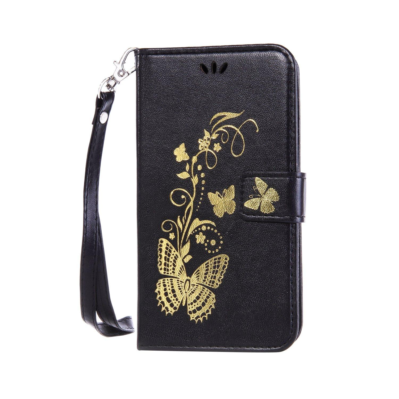 Cozy Hut® Ultra Schlank Folio Handyhülle / für Nokia Lumia 650 N650 Cover / Case / Bumper Hülle Schutzhülle / Rückdeckel Schutzhülle / Handy Hülle / Ultra-thin soft shell / Strass Bräunung Stil Blau Gold Schmette