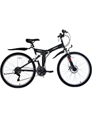 ECOSMO 26SF02BL - Bicicleta plegable (suspensión, más de 18 velocidades)