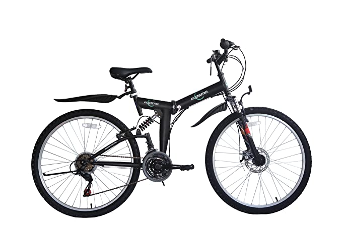 Ecosmo - Bicicleta plegable 21SP Shimano-26SF02BL de 66,04 cm con ...