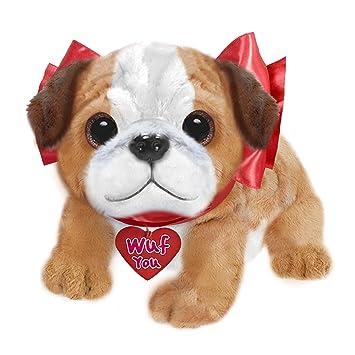 Amazon Com First Main Dog Plush Valentine S Day Wuffles Bulldog