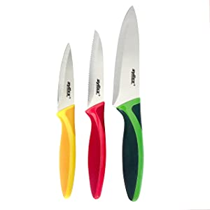 ZYLISS 3 Piece Value Knife Set with Sheath Covers, Stainless Steel