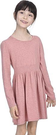 State Cashmere Vestido Casual de Manga Larga de Cachemira y algodón para niña: Amazon.es: Ropa y accesorios