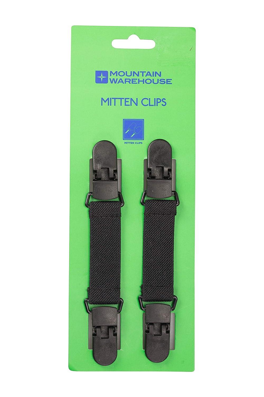 Mountain Warehouse ミトン キッズクリップ - 手袋をコートスリーブに取り付けます。 B01HMUQJFU ブラック