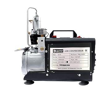 HPDAVV compresor de Aire de Alta presión, para PCP Paintball, 4500 PSI, Sistema