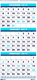 product image for House of Doolittle 3646 Three-Month Format Wall Calendar, 8 x 17, 2015-2016