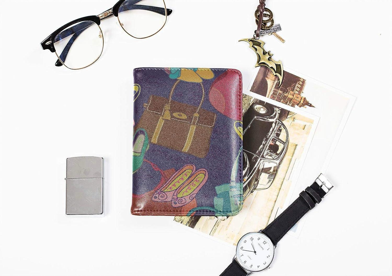 Passport Cover Waterproof Fashion Girl Retro Beautiful Handbag Passport Case For Women Multi Purpose Print Case For Passport Travel Wallets For Unisex 5.51x4.37 Inch
