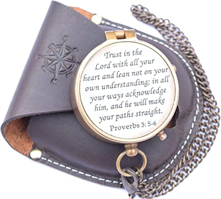 Trust in the Lord with all your heart Prov 3:5 Bracelet Brown Gold