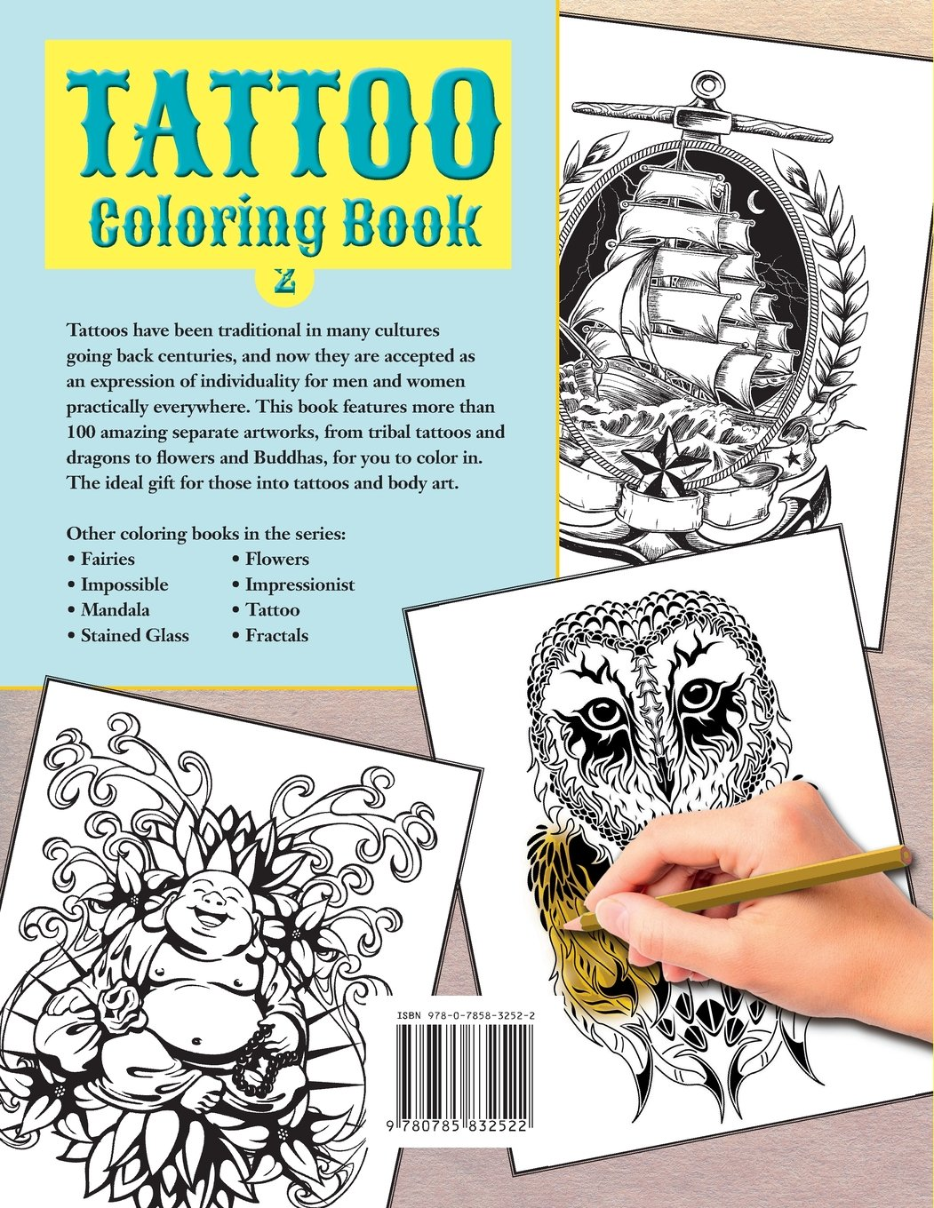 tattoo coloring book 2 exciting pictures from the world of body