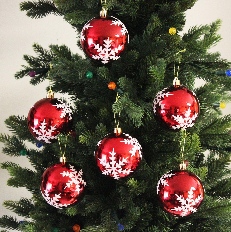 Amazon Festive Season Snowflake Shatterproof Christmas Ball