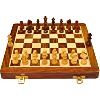 Palm Royal Handicrafts Premium Quality Best Folding Handmade Wooden Chess Board Set with Magnetic Pieces with Extra…