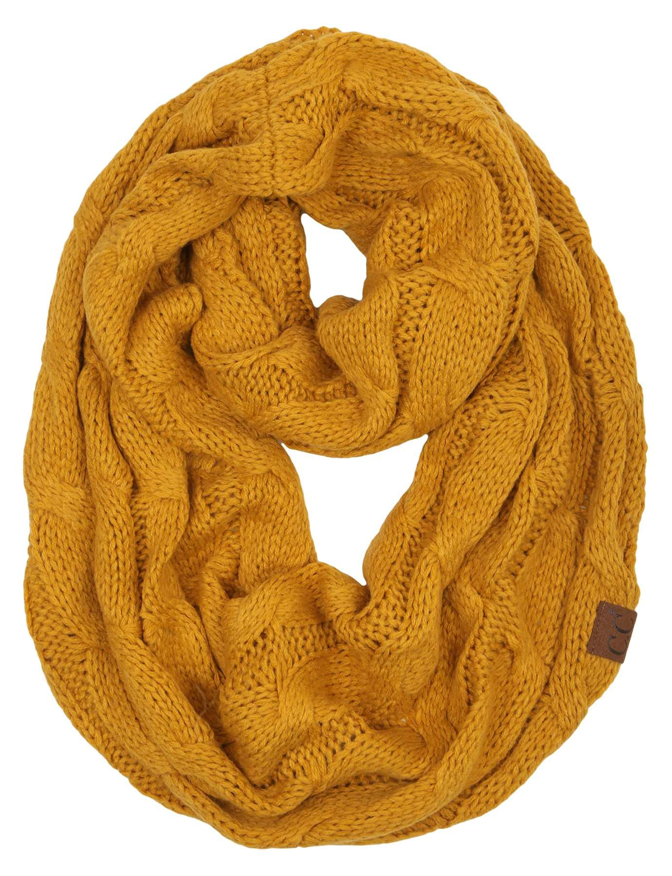 S1-6100-72 Funky Junque Infinity Scarf - Mustard (Solid) by Funky Junque (Image #1)