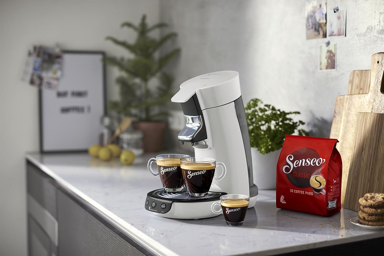Independiente, M/áquina de caf/é en c/ápsulas, 0,9 L, Dosis de caf/é, 1450 W, Blanco Cafetera Senseo Viva Caf/é HD6563//00