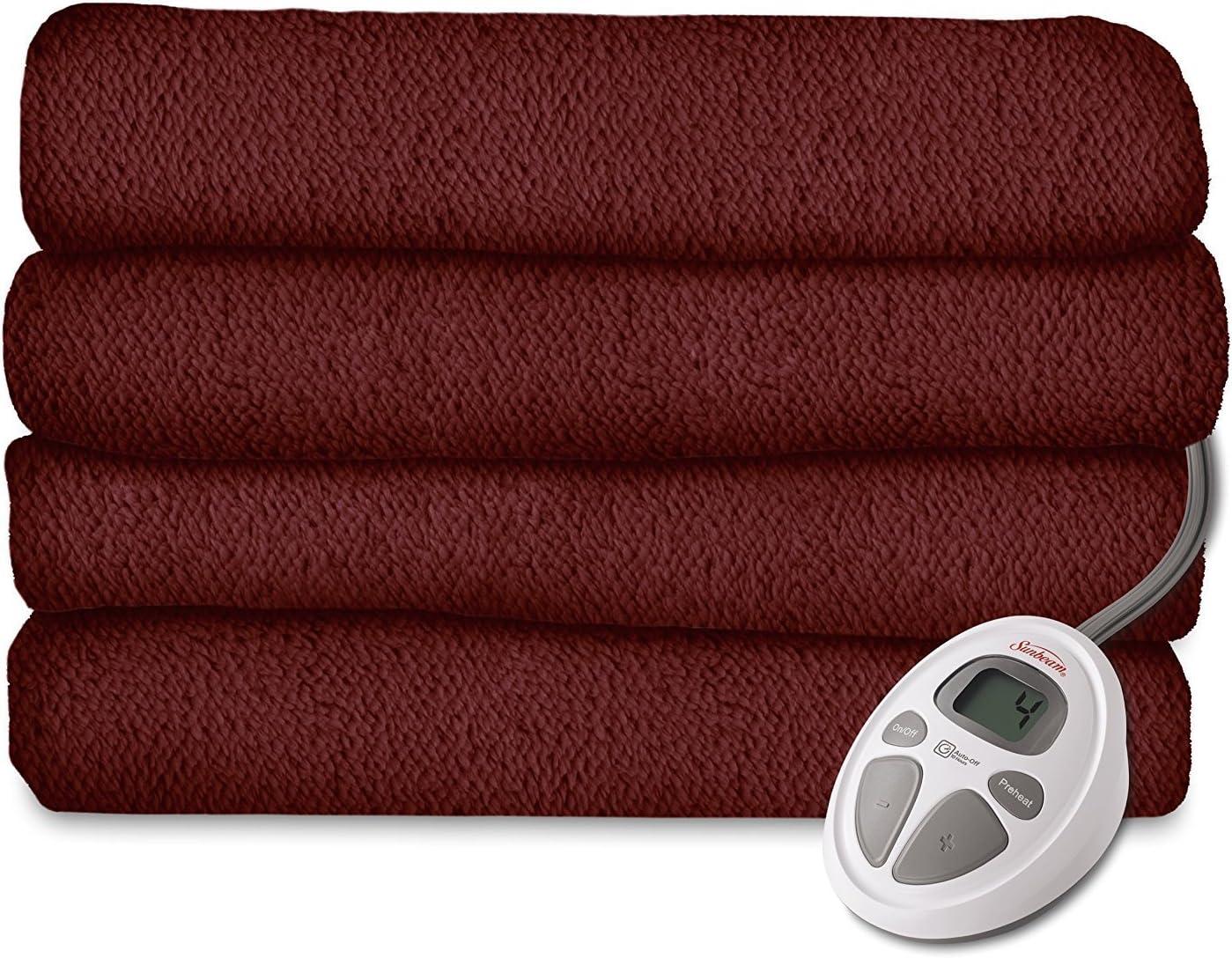 Sunbeam LoftTech Heated Blanket, King, Garnet