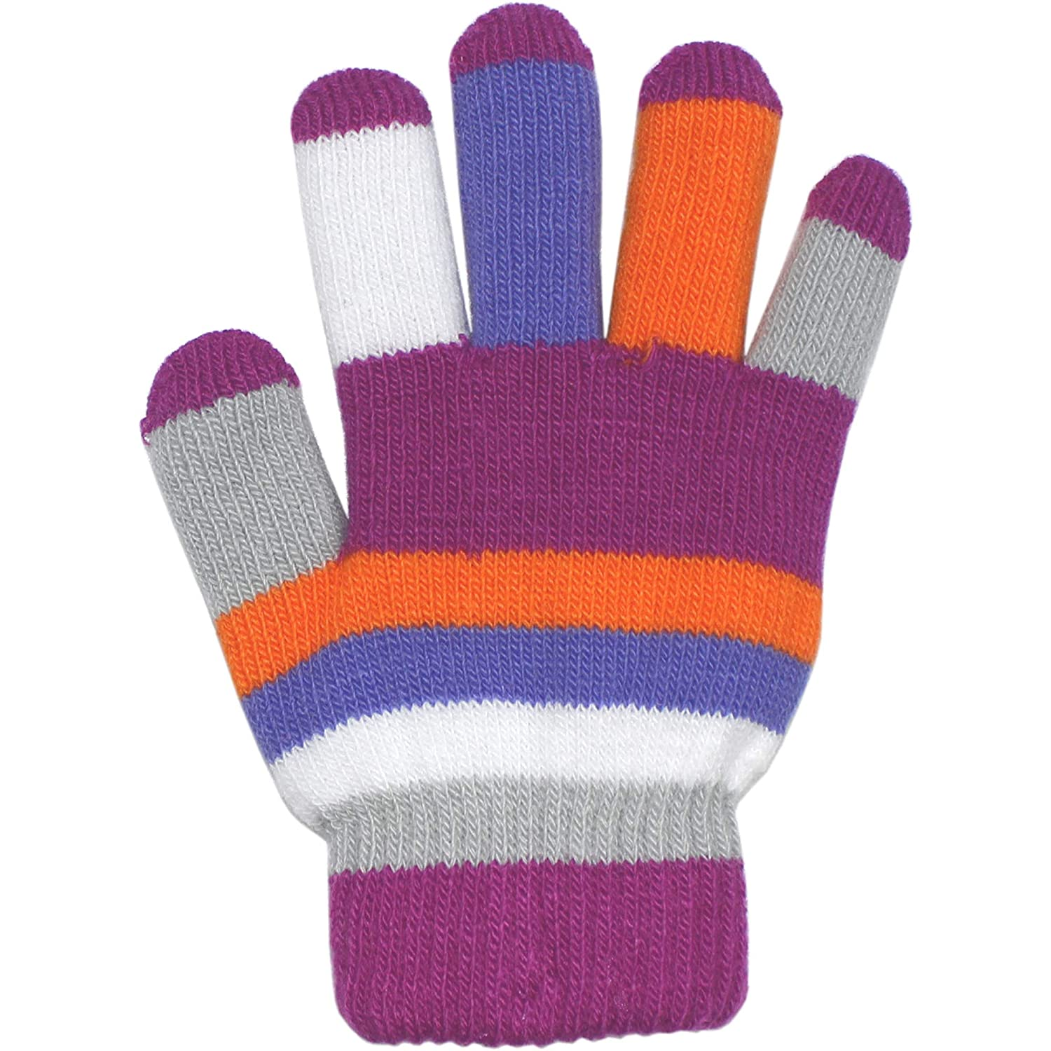 Childrens Padded Colourful Magic Rainbow Winter Gloves