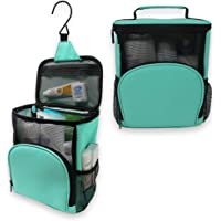 TERRA Home Hanging Shower Bag - Large Capacity Quick Dry Mildew Resistant with Metal Hook - College Dorm Room Essentials…