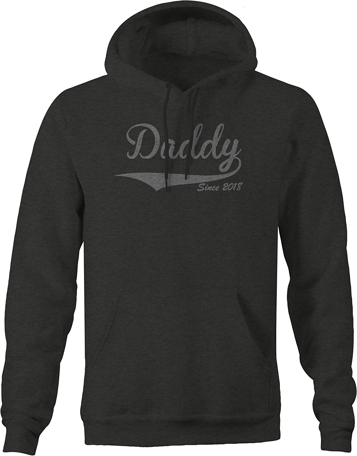 Lifestyle Graphix Daddy Since 2018 Dad Baby Birth Hoodies for Men
