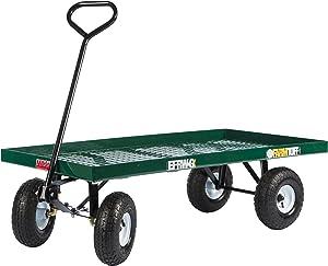 Farm Tuff Metal Deck Wagon, 24-Inch by 48-Inch, Green