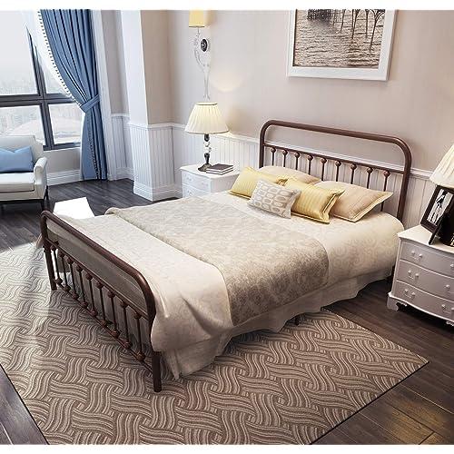 Iron Beds Queen Amazon Com