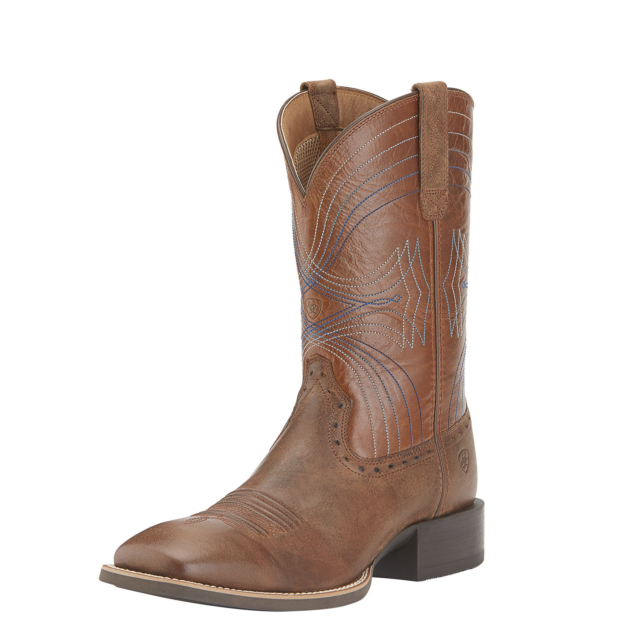 Ariat Men's Sport Wide Square-Toe Western Cowboy Boot, Sandstorm/Coyote Brown, 9 2E US by Ariat
