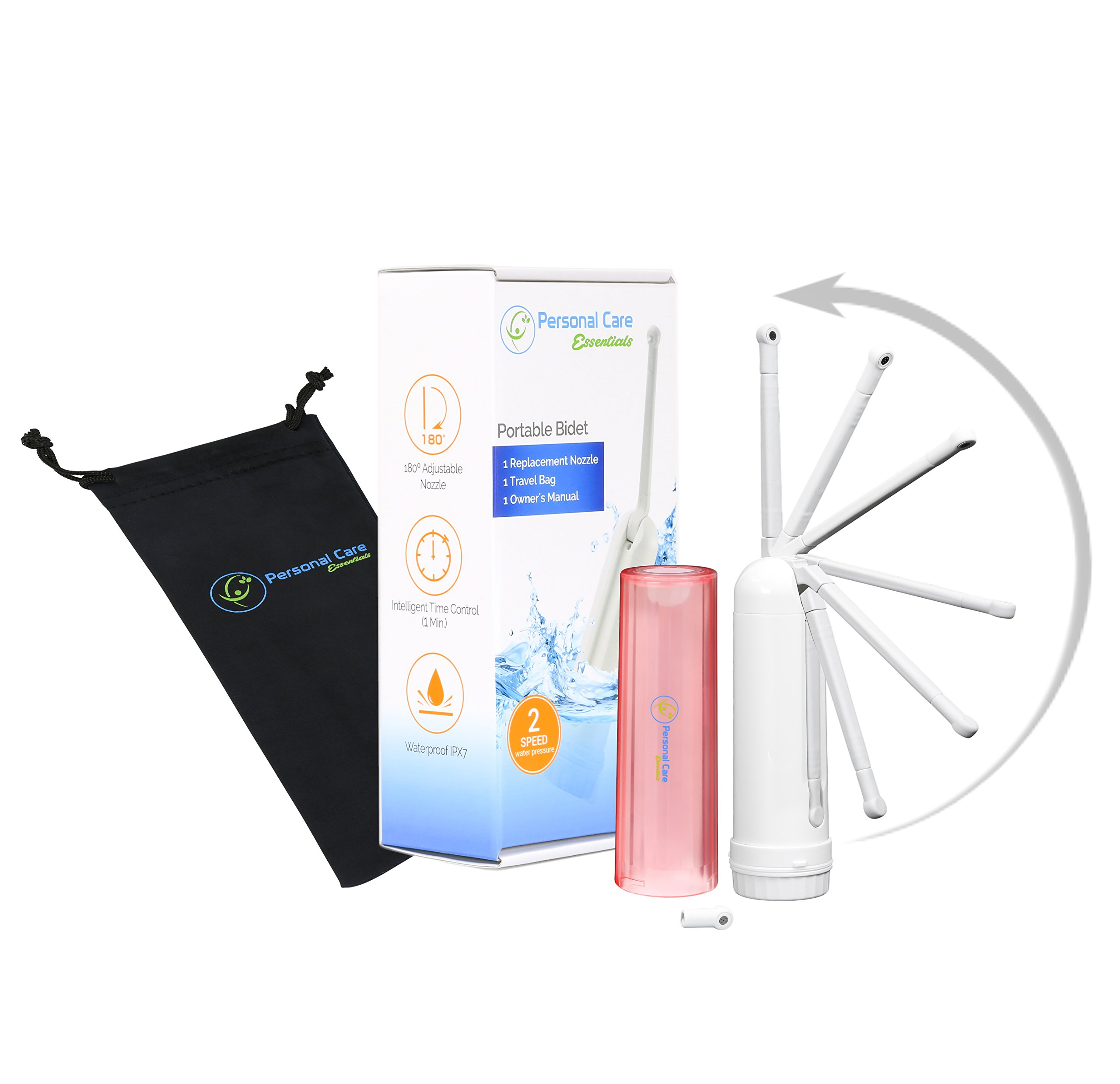 Personal Care Essentials Feminine Hygiene Kit - Includes Personal Bidet Sprayer with Adjustable Nozzle, Replacement Nozzle, and Travel Bag - 1 Year Warranty by Personal Care Essentials (Image #1)