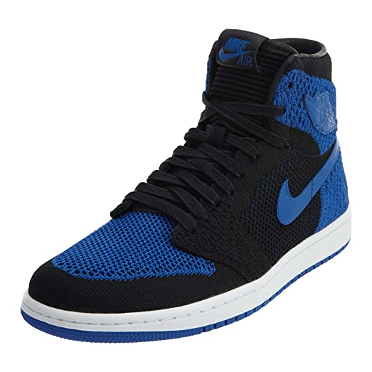new style 50631 6227b ... cheapest jordan air 1 retro high flyknit royal lifestyle casual shoes  black game royal white 6142c