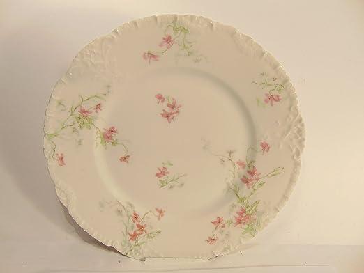 Salad Plate Theodore Haviland Limoges Pink Roses