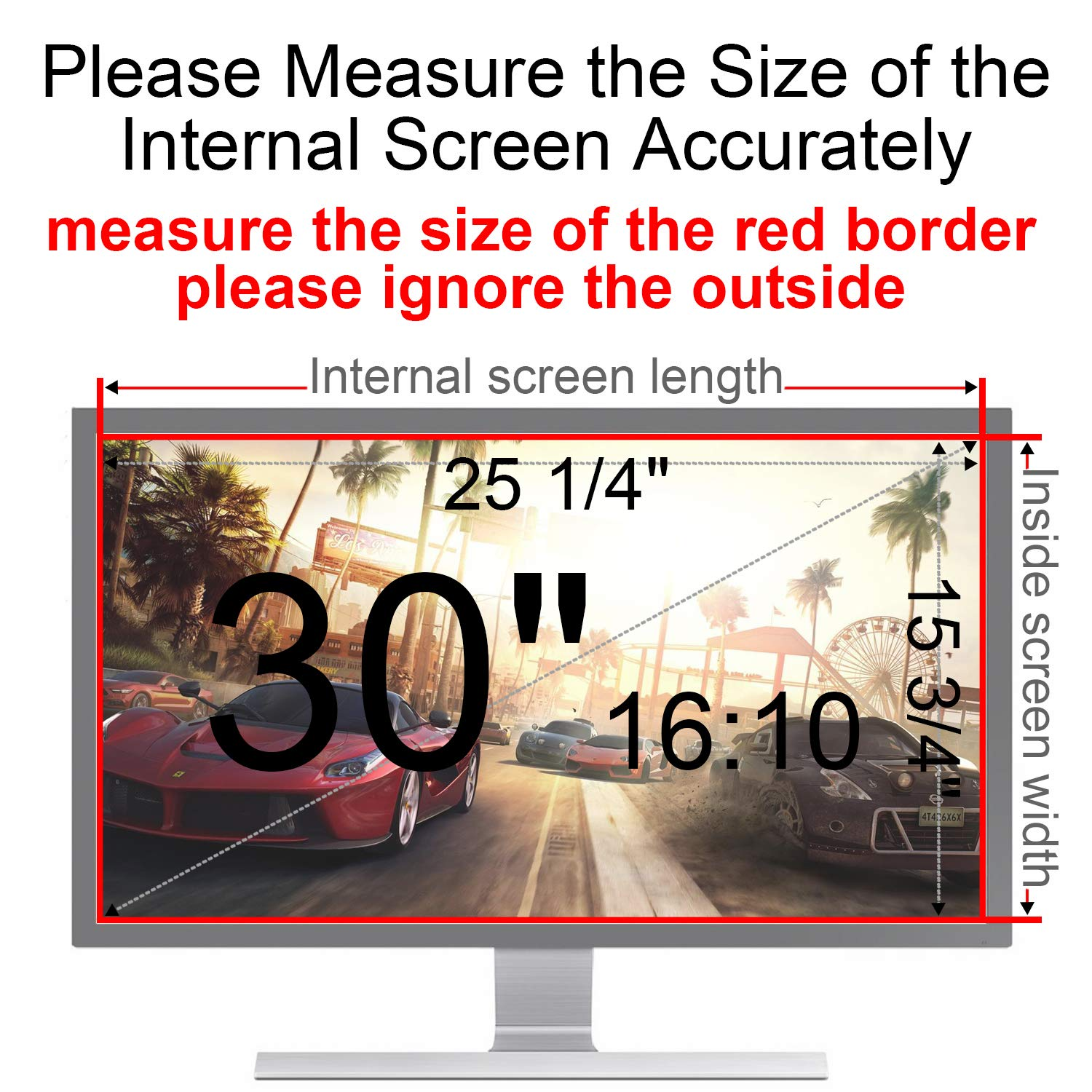 MAYAMANG Privacy Screen Protector 30 Inch 16:10 Monitor, Privacy Filter for Widescreen PC Computer, Monitor Privacy Screen 30 Inch, Anti-Glare Computer Privacy Screen, Monitor Protector by MAYAMANG (Image #3)