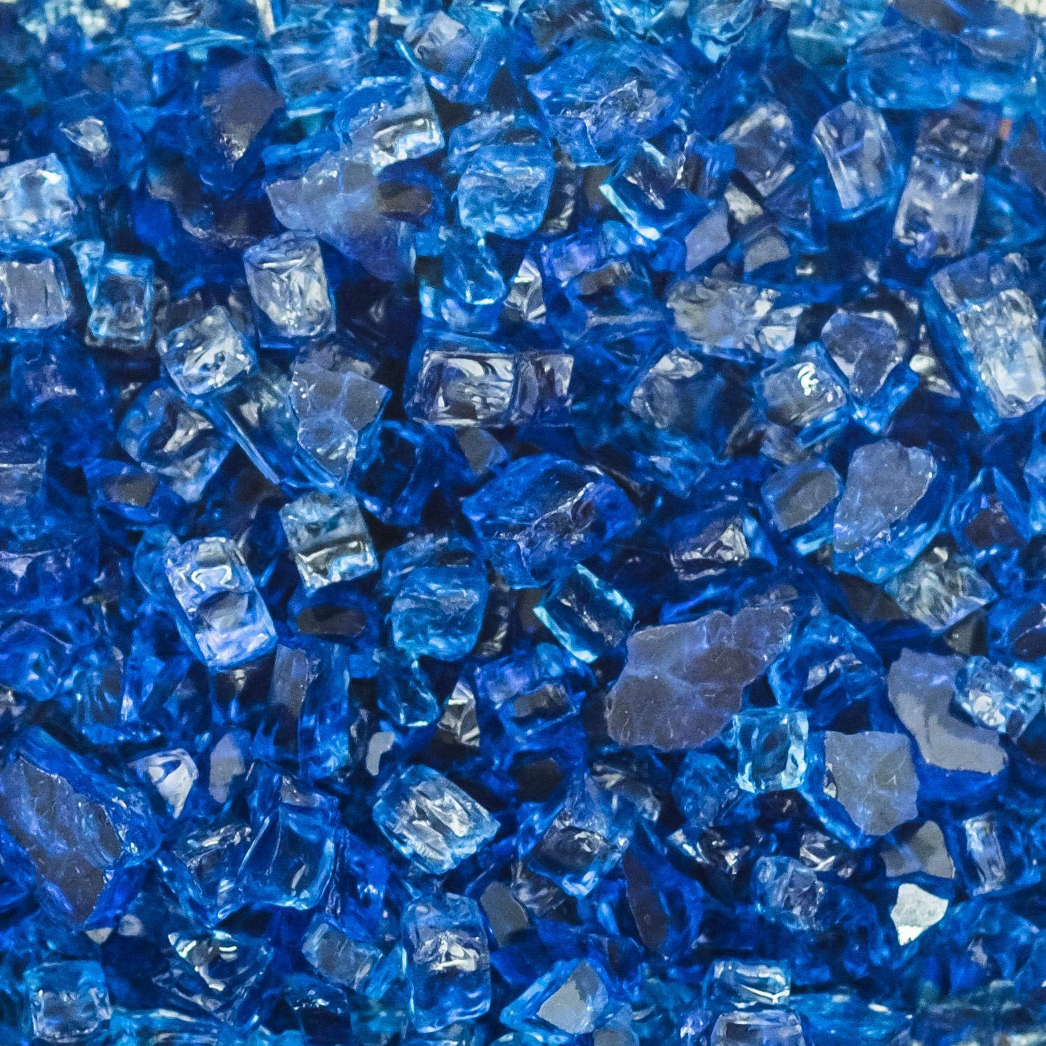 Lakeview Outdoor Designs 1/2-Inch Blue-Jay Fire Glass - 1 Pound