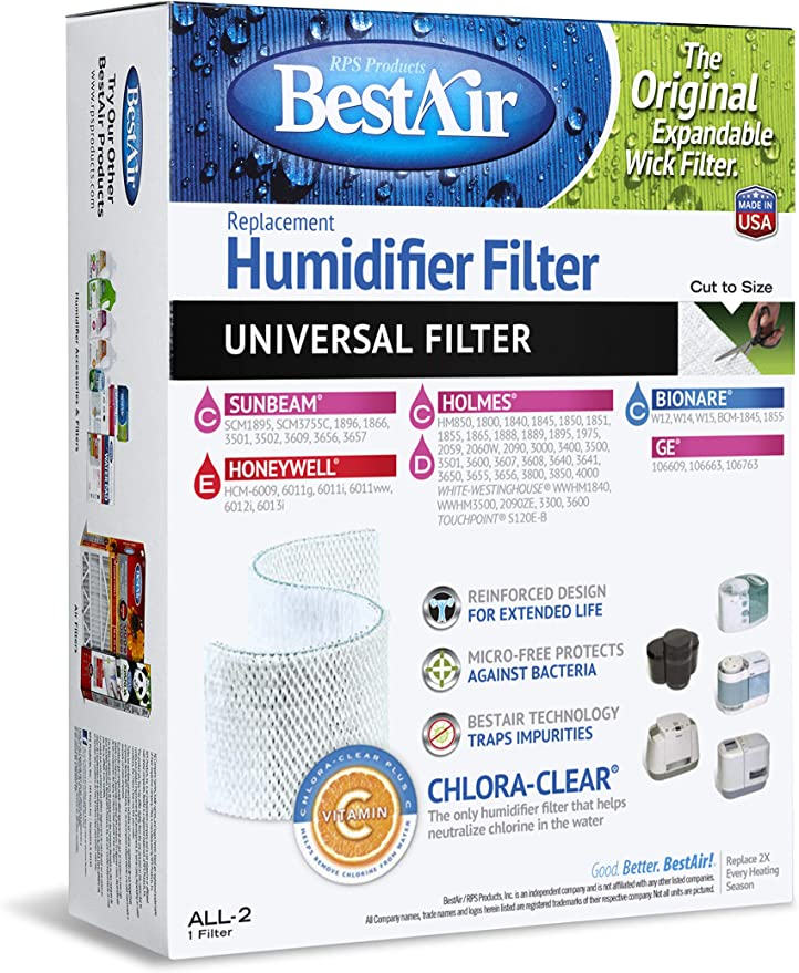 RPS Products, Inc. ALL 2 Humidifier Filter HUMIDIFIER WICK FILTER
