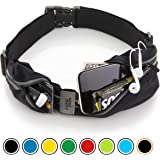 Running Belt Pack By Sport2people â— Weather Resistant Running Belt â—Waist Pack with Reflective Crotch and Opening for Headphones â— Ifitness Running Belt with One Small and One Extra Large Pocket Holds
